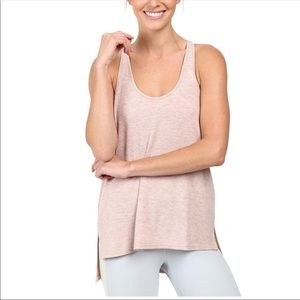 Alo Yoga Cozy Knit Racerback Tank Top Light Pink